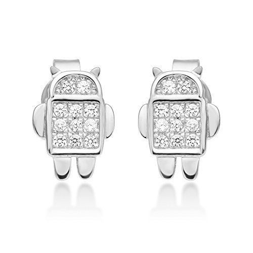 Sterling Silver Little Android Earrings product image