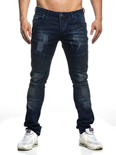 TAZZIO Biker Style Herren Jeans 16508 blau