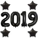 40 Inch black 2019 Number Foil Balloons