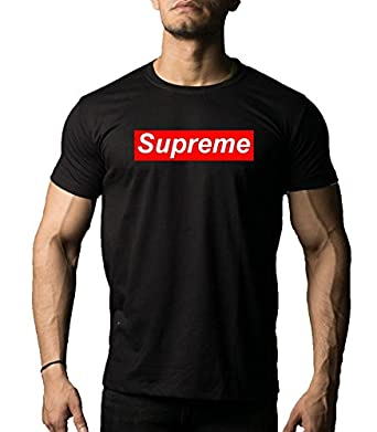 f4cfcdf46cc DAB Apparels Men's Cotton Half Sleeves Supreme Round Neck T-Shirt (Black,  Small