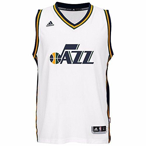 Utah Jazz NBA Adidas White Swingman Jersey For Men (M)