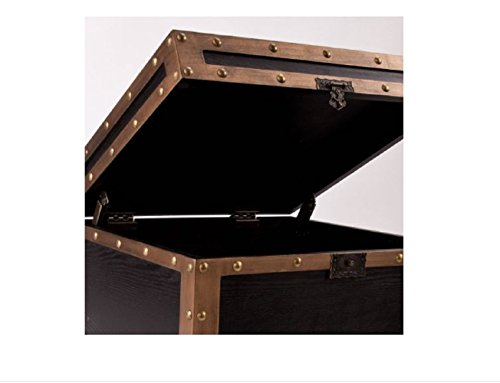 Travel Trunk End Table Storage Side Accent Industrial Antique Bronze by CiciLeesa (Image #3)