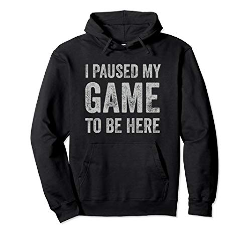 Paused My Game To Be Here Hoodie - Funny Video Game...