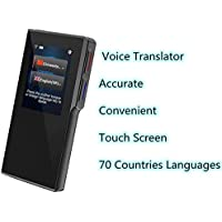 Smart Voice Translator Device with 2.4 Inch High Definition Toch Screen Support 70 Languages for Travelling Abroad Learning WiFi or 4G Hotspots Shopping Business Chat Recording Translations