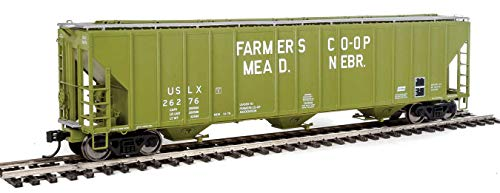 (Walthers Proto HO Scale 55' Evans 3-Bay Covered Hopper Mead Nebraska Co-op 26276)