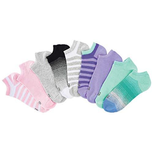 Bell Illinois (K. Bell Women's No Show Socks (Pack of 9 Pairs) No-Slip Pocket Heel (Medium, Colorful))