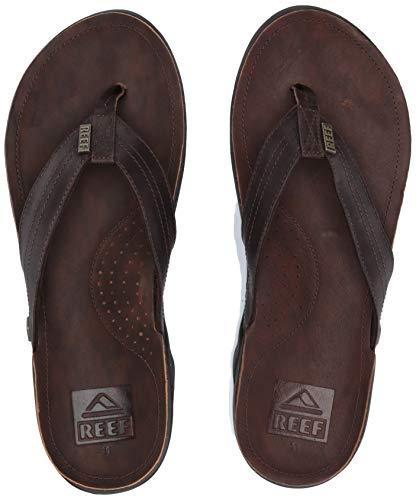 (REEF Men's J-Bay III Sandals, Dark Brown/Dark Brown, Size)