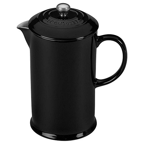 Le Creuset Stoneware 27oz. French Press, Black Onyx by Le Creuset.