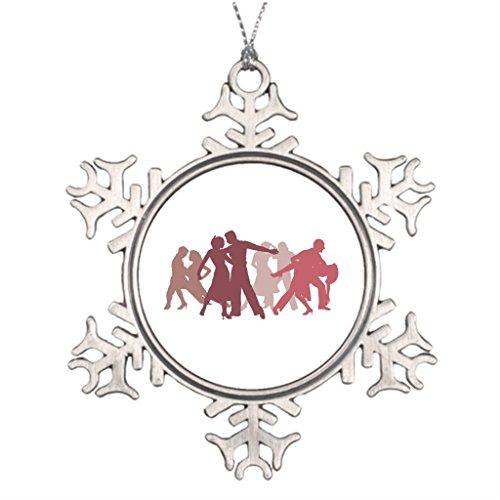 Silently Latin Dance Tree Decorating Bachata Wedding Christmas Snowflake Ornament