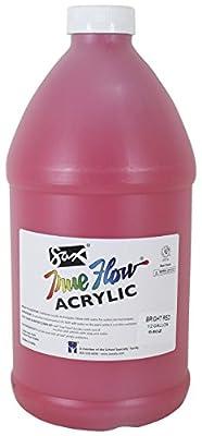 Sax True Flow Heavy Body Acrylic Paint, 1/2 Gallon, Bright Red