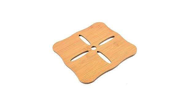 Amazon.com | Heat Mat Forma eDealMax bambú Plaza Home Cocina cojín del aislamiento Beige: Coasters