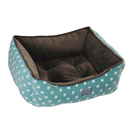 EZ Living Home Polka Dots Couch Bed, Medium, Turquoise
