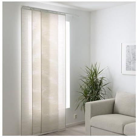 Ikea fönsterviva Cortina de Panel, Blanco/Beige 60 x 300 cm: Amazon.es: Hogar