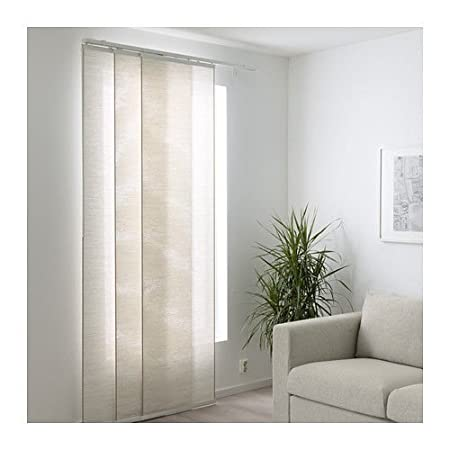 Tende Ikea A Pannello.Ikea Fonsterviva Tenda A Pannello Bianco Beige 60x300 Cm Amazon
