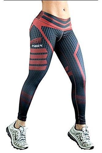 Davikey comfortable Women's Digital Print Exercise Leggings Yoga Tights Pants S Pattern (Sims 2 Jeans)