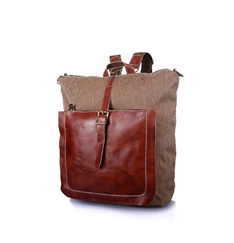Sucastle Retro Tasche lässig Tasche Schultertasche Tragetasche Sucastle Farbe: Khaki Größe: 36x33x16cm