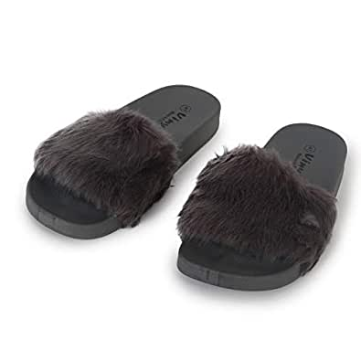 Viny Brown Flip Flop Slipper For Women