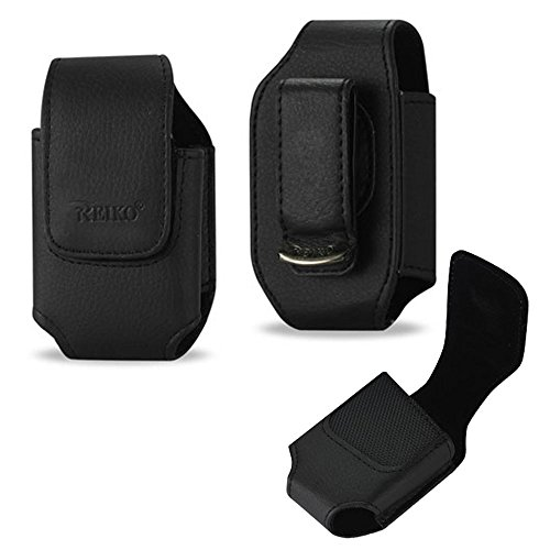 Vertical Leather Case with Magnetic closure with belt clip for LogicMark Guardian Alert (Alert Leather)