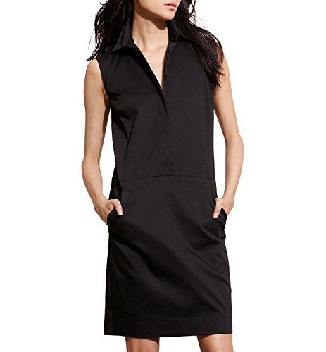 Ralph Lauren Stretch Wrap - Lauren Ralph Lauren Women's Stretch Cotton Shift Dress Black 10