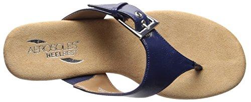 Aerosoles Blue Women's Flower Sandal Wedge w18Zqv