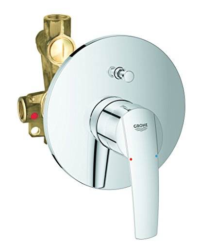 Grohe Start bath fitting with in-wall body, automatic bath/shower diverter, -