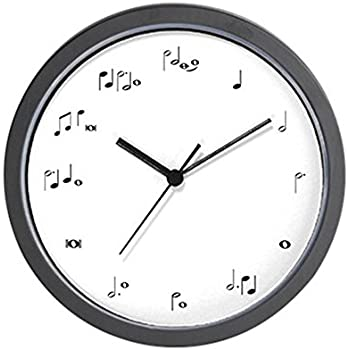 "CafePress - Music Notes Musician Time - Unique Decorative 10"" Wall Clock"