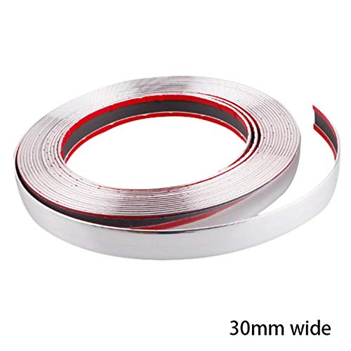 Car Body Trim Strips – DIY Protective Tape for Cars,ABS Chrome Styling Decorative Strips for car,for Car Window Door Soundproofing Engine Cover (13M Silver)