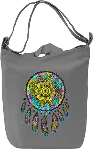 Ethnic Dream Catcher Borsa Giornaliera Canvas Canvas Day Bag| 100% Premium Cotton Canvas| DTG Printing|