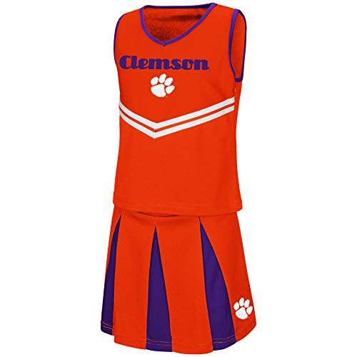 Colosseum Youth NCAA-Girls Cheer Set-Clemson Tigers-Youth - Girl Clemson