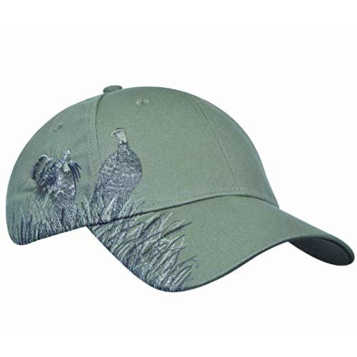 - Unisex Hunting Hat Embroidered Baseball Cap Adjustable Back with Velcro Closure,Sage Turkey