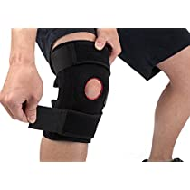 Knee Brace Support, Arespark Adjustable Breathable Elastic Compression Patellar Tendon Brace, Neoprene Sleeve Cap-knee Protector Stabilizer Wrap Pads for strains, sprains, pain, rehab, Arthritis, ACL, Meniscus, Running, Basketball - Black