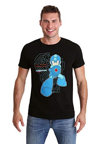Mega Man Classic Protect The World Black T-Shirt Large