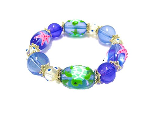Painted Glass Round Beads - 3