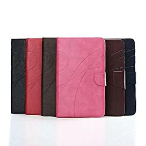 JJE Crazy Horse Lines Leather Case with Card Slot for Samsung Galaxy Tab Pro8.4 T320(Assorted Colors) , Dark Brown