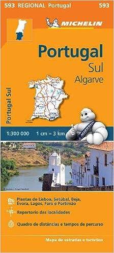Portugal Sul Algarve Regional Map 593 Michelin Regional Maps