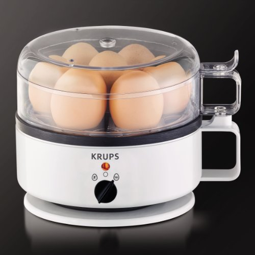 KRUPS F23070 Egg Cooker with Water Level Indicator, 7-Eggs capacity, White
