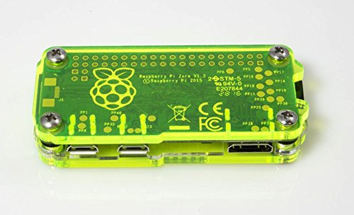 Zebra Zero for Raspberry Pi Zero & Zero Wireless - Laser Lime w Heatsinks by C4 Labs (Image #5)