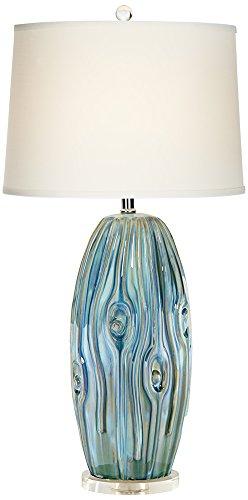 - Possini Euro Eneya Blue Ceramic Table Lamp