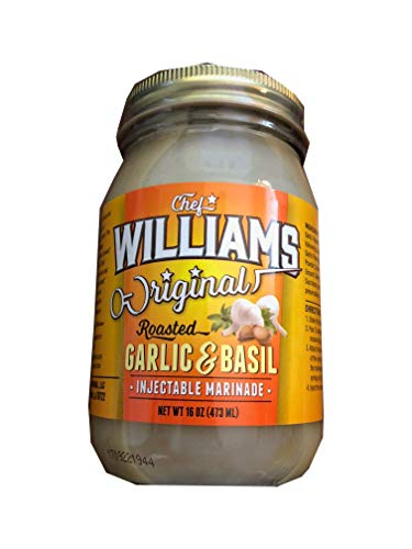 CHEF WILLIAMS ORIGINAL ROASTED GARLIC & BASIL INJECTABLE MARINADE