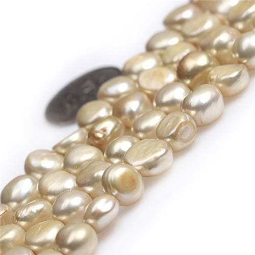 Freeform Freshwater Pearl Beads - Freshwater Cultured Pearl Beads for Jewelry Making Natural Semi Precious Gemstone 7-8mm Golden Freeform Strand 15