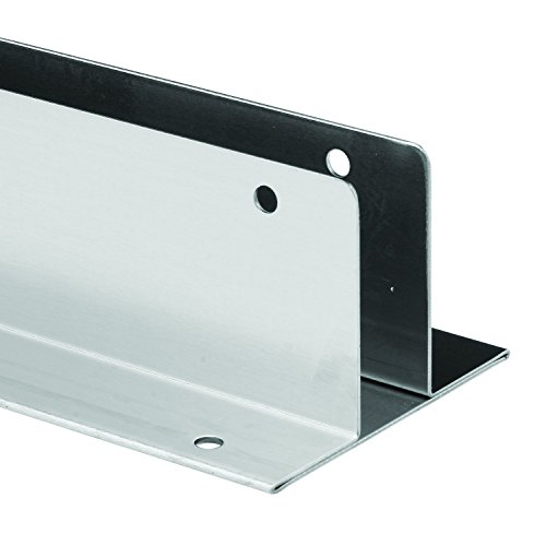 Sentry Supply 650-1521 Continuous Wall Bracket, Two Ear, Fits 3/4 inch Panels, Stainless Steel, 41 inch Long, Green