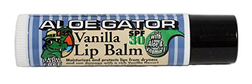 Aloe Gator SPF 30 Moisturizing Lip Balm, Vanilla