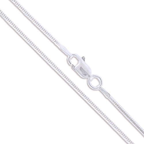 Snake Chain Sided (Sterling Silver 8 Sided Magic Snake Chain 1.2mm Solid 925 Italy New Necklace 20
