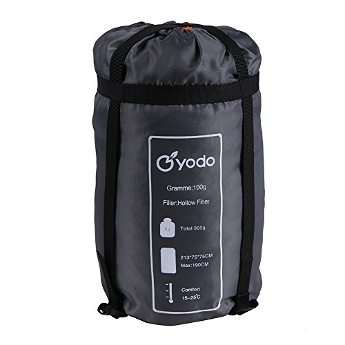 Yodo-Compact-Warm-Weather-60-80-Degree-F-Sleeping-Bag-73-x-29-inches-for-Outdoor-Camping-Hiking-Backpacking-Travel-with-Compression-Sack-for-Women-and-Men