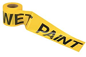 Johnson Level & Tool 3323 3-Inch by 300-Foot Yellow Wet Paint Tape
