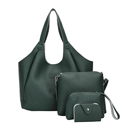 Purse Womens Bags Style Shoulder Pu green Leather Bag Handbag Tote handle Top 2 Toamen zqApSHxx