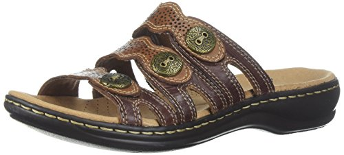 Brown Us Platform Medium Leather 12 Clarks Women's Leisa Grace multi 4qznIwSp
