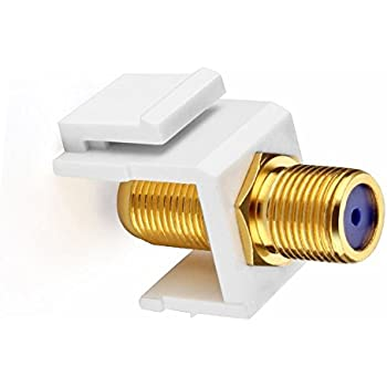 IBL- (5 pack) Gold Plated TV Cable Coaxial F Connector RG-6