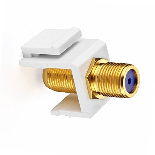 IBL- (5 pack) Gold Plated TV Cable Coaxial F Connector RG-6 Keystone Jack Insert
