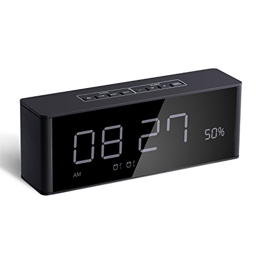 Alarm Clock with Bluetooth Speaker and FM...